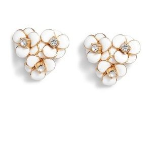 Kate Spade Flower Cluster CZ Stud Earrings NWT